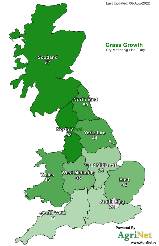 UK Grass Growth Map